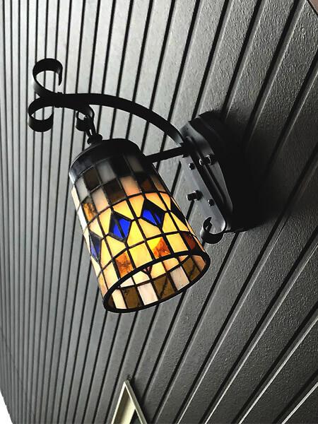 Y様邸店舗玄関ランプ