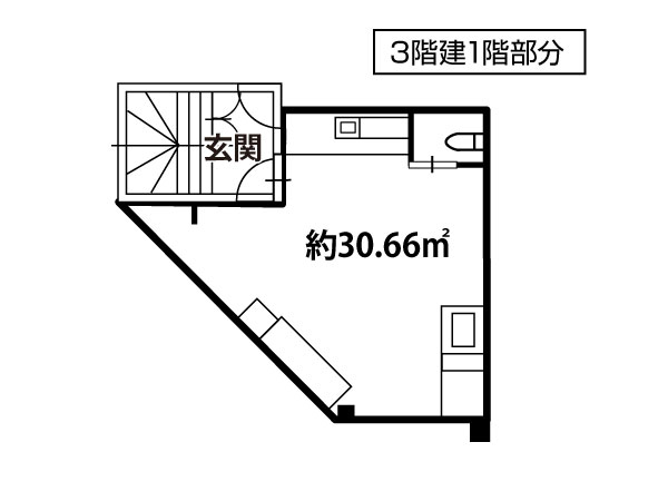 古曽部町貸家1階部分